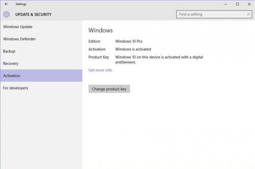 Windows 10家庭版1511升级到专业版