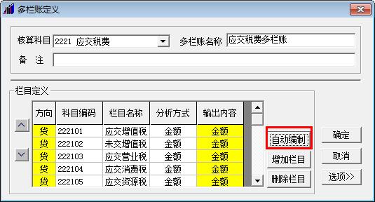 会计做账之用友T3:[6]如何查询多栏账
