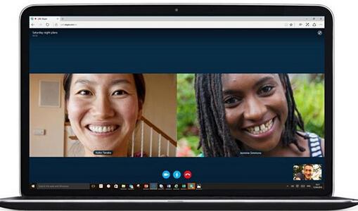 网页版Skype,Win10 Edge浏览器