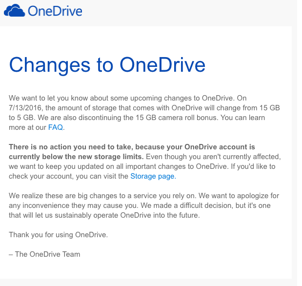 OneDrive免费服务