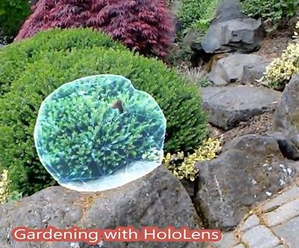 Win10全息AR眼镜HoloLens打造科幻花园