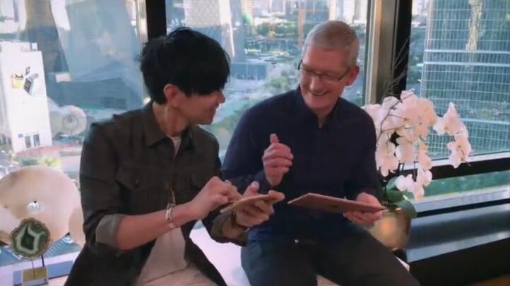 库克和林俊杰在一起愉快的合奏了中国风乐曲