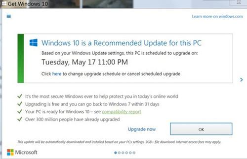 用户爆微软未经许可强行安装Win10