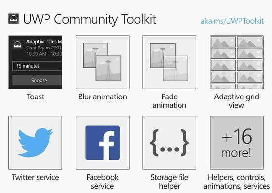 微软为Windows 10开发者推出UWP社区工具箱
