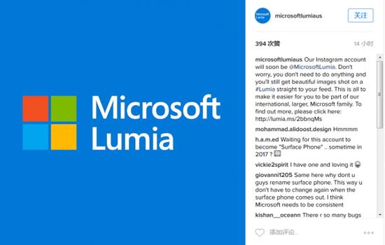 微软大量关闭美国地区Lumia Instagram账号