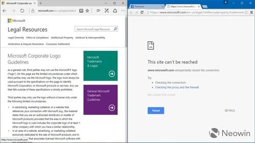 Chrome浏览器上无法打开微软官网