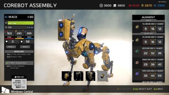 核心机器人的强化对于游戏过程十分重要