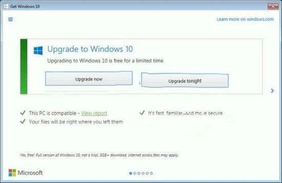 """微软移除GWX应用 Win10免费""""后悔药""""没了!"""