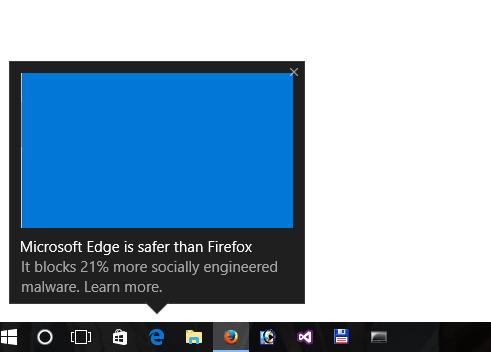 """微软Win 10花式弹广告""""Edge浏览器最安全""""-正版软件商城聚元亨"""